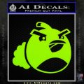 Angry Birds Bomb Decal Sticker Lime Green Vinyl 120x120