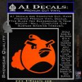 Angry Birds Bomb Decal Sticker Orange Emblem 120x120