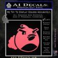 Angry Birds Bomb Decal Sticker Pink Emblem 120x120