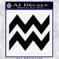 Aquarius Zig Zag Zodiac Decal Sticker Black Vinyl 120x120