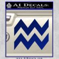 Aquarius Zig Zag Zodiac Decal Sticker Blue Vinyl 120x120