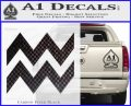 Aquarius Zig Zag Zodiac Decal Sticker Carbon FIber Black Vinyl 120x97