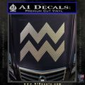 Aquarius Zig Zag Zodiac Decal Sticker Carbon FIber Chrome Vinyl 120x120