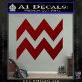 Aquarius Zig Zag Zodiac Decal Sticker DRD Vinyl 120x120