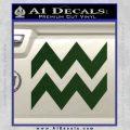 Aquarius Zig Zag Zodiac Decal Sticker Dark Green Vinyl 120x120