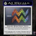 Aquarius Zig Zag Zodiac Decal Sticker Glitter Sparkle 120x120