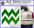 Aquarius Zig Zag Zodiac Decal Sticker Green Vinyl Logo 120x97