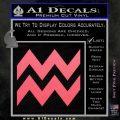 Aquarius Zig Zag Zodiac Decal Sticker Pink Emblem 120x120