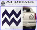 Aquarius Zig Zag Zodiac Decal Sticker PurpleEmblem Logo 120x97