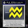 Aquarius Zig Zag Zodiac Decal Sticker Yellow Laptop 120x120