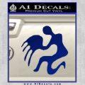 Aquarius Zodiac Decal Sticker D1 Blue Vinyl 120x120