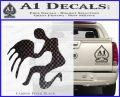 Aquarius Zodiac Decal Sticker D1 Carbon FIber Black Vinyl 120x97