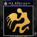 Aquarius Zodiac Decal Sticker D1 Gold Vinyl 120x120
