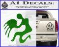 Aquarius Zodiac Decal Sticker D1 Green Vinyl Logo 120x97