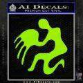 Aquarius Zodiac Decal Sticker D1 Lime Green Vinyl 120x120