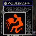Aquarius Zodiac Decal Sticker D1 Orange Emblem 120x120
