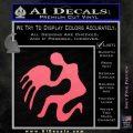 Aquarius Zodiac Decal Sticker D1 Pink Emblem 120x120