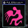 Aquarius Zodiac Decal Sticker D1 Pink Hot Vinyl 120x120
