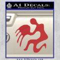 Aquarius Zodiac Decal Sticker D1 Red 120x120