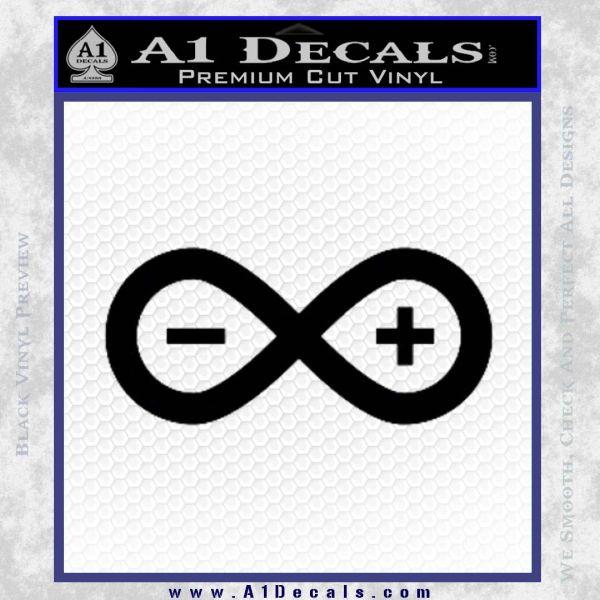 Arduino Electronics Infinity Decal Sticker Black Vinyl