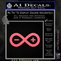 Arduino Electronics Infinity Decal Sticker Pink Emblem 120x120