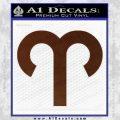 Aries Drawing Zodiac Decal Sticker BROWN Vinyl 120x120