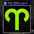 Aries Drawing Zodiac Decal Sticker Lime Green Vinyl 120x120
