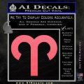 Aries Drawing Zodiac Decal Sticker Pink Emblem 120x120