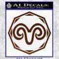 Aries Zodiac Decal Sticker OCT BROWN Vinyl 120x120
