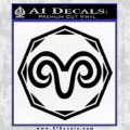 Aries Zodiac Decal Sticker OCT Black Vinyl 120x120