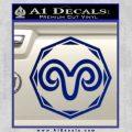 Aries Zodiac Decal Sticker OCT Blue Vinyl 120x120