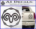 Aries Zodiac Decal Sticker OCT Carbon FIber Black Vinyl 120x97
