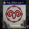 Aries Zodiac Decal Sticker OCT DRD Vinyl 120x120