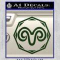 Aries Zodiac Decal Sticker OCT Dark Green Vinyl 120x120