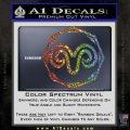 Aries Zodiac Decal Sticker OCT Glitter Sparkle 120x120