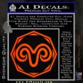 Aries Zodiac Decal Sticker OCT Orange Emblem 120x120