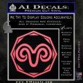 Aries Zodiac Decal Sticker OCT Pink Emblem 120x120