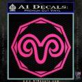 Aries Zodiac Decal Sticker OCT Pink Hot Vinyl 120x120