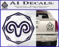 Aries Zodiac Decal Sticker OCT PurpleEmblem Logo 120x97