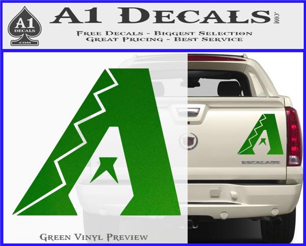 Arizona Diamondbacks MLB Logo Decal Sticker Green Vinyl 120x97