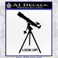Astronomy Telescope Decal Sticker Black Logo Emblem 120x120