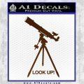 Astronomy Telescope Decal Sticker Brown Vinyl 120x120