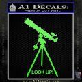 Astronomy Telescope Decal Sticker Lime Green Vinyl 120x120