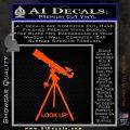 Astronomy Telescope Decal Sticker Orange Vinyl Emblem 120x120