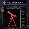 Astronomy Telescope Decal Sticker Pink Vinyl Emblem 120x120