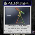 Astronomy Telescope Decal Sticker Sparkle Glitter Vinyl 120x120