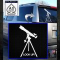 Astronomy Telescope Decal Sticker White Emblem 120x120