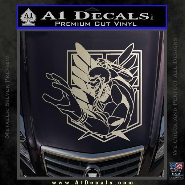 Attack On Titan Armor Titan Anime Decal Sticker 187 A1 Decals