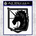 Attack on Titan SNK Anime Military Police Seal Decal Sticker Black Logo Emblem 120x120