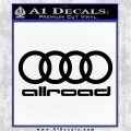 Audi Allroad Rings Decal Sticker Black Logo Emblem 120x120